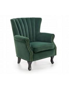 Fotel Wypoczynkowy do Salonu TITAN Zielony Welur
